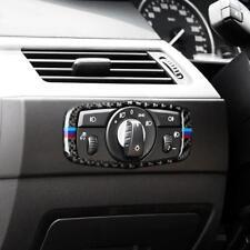 Carbon Fiber Car Head Light Switch Button Cover Trim for BMW 5 Series E60 E70 B