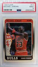 Rare: 1988 88-89 Fleer Michael Jordan #17, Graded Mint PSA 9, Chicago Bulls HOF