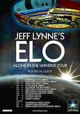 """JEFF LYNNE'S ELECTRIC LIGHT ORCHESTRA """"UNIVERSE TOUR"""" 2016 EUROPE CONCERT POSTER"""
