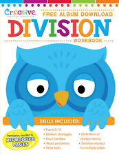 NEW 32pg Division Workbook Second Third Grade Includes Free Album Download