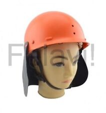 Sicherheitshelm mit Nackenschutz Forsthelm Schutzhelm Orange Helm Bauhelm (F111)