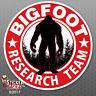 "Bigfoot Research Team ""RED"" Sticker -Sasquatch Yeti Car Truck Window Decal FS382"