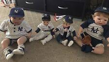 Very rare New York Yankees Uniform Lifelike Baby Dolls...Jeter..lot of 4 Savages