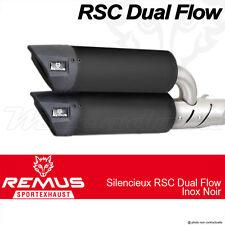 Par silenciador Remus RSC Dual Flow Negro con gato Vespa GTS 125 ie Super 09+