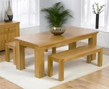 Solid Wood Up to 8 Seats 3 Piece Table & Chair Sets