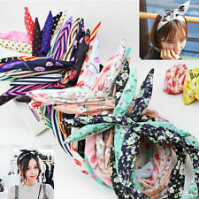10Pc Women Lady Paisley Polka Dot Wire Headband Headwrap Hair Band Holder Random