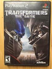 Transformers The Game (2007)  Playstation 2  PS2  Activision *TESTED WORKING*