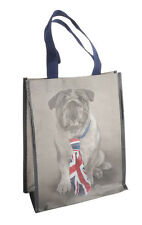 ***RACHAEL HALE CUTE DOG UNION JACK SHOPPING TOTE BAG FOR LIFE COLLAGE SCHOOL **