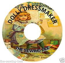 "Antique Dolly's Dressmaker doll patterns 9"" doll wardrobe patterns 1886 On Cd"