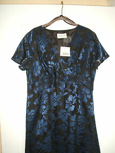 BNWT LADIES BLUE & BLACK PRETTY DRESS SIZE 12