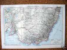 AUSTRALIEN New South Wales Victoria LANDKARTE von 1893