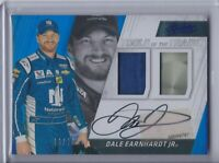 2017 Panini Absolute Blue Firesuit Sheet Metal Dale Earnhardt Jr  Autograph /20