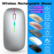 Mini Wireless Bluetooth 5.1 + 2.4G Mouse 1600DPI Mice for Tablet PC Laptop Mac