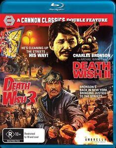 Death Wish 2 / Death Wish 3 (Blu-ray 2-Disc) NEW/SEALED