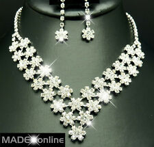 Set F, Diamante Diamonte Necklace Set Wedding Party Prom Jewellery