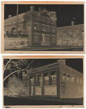 RARE - 2 Photo Negatives - Raymond & Langdon Piano Company Cleveland OH ca 1905