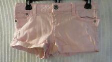 BLUE ASPHALT Juniors Pink Cuffed Shorts DISTRESSED SZ 1 COT/BLND 28X2 R 6.5 #719