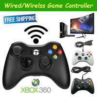 Wired/Wireless Game Controller Dual Vibration Gamepad For Microsoft XBOX 360 PC