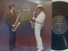 Bob Wilber & Scott Hamilton Quartet ORIG US ST LP NM '77 Saxophone Jazz CR171