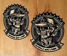 2x Smith & Wesson Cowboy Oldschool Sticker Aufkleber USA Car V8 V6 Skull Retro