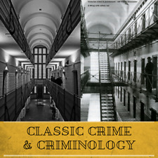 Criminology Crime Criminal Cases Law Prison History - 245 Rare Books on Data DVD