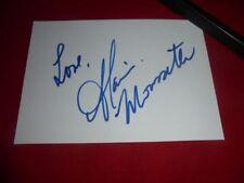 Alanis Morissette-firmado-Autograph-signed - autografo-en persona 1995