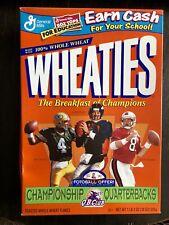Unopened 1999 Wheaties Cereal Box - Championship Quarterbacks - NFL