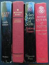 Lot 2 biographies MARY OF QUEEN SCOTS Fraser BLOODY MARY Erickson hardcover HCDJ