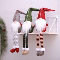 Swedish Tomte Santa Doll Claus Xmas Long Leg Gnome Home Table Decor Kids Gift US