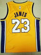 LeBron James  LA Lakers 23 Yellow NBA Basketball Swingman Jersey Shirt