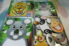 Children's Small Magnetic Wooden Funny Animal Faces Puzzle Game Set! 24+ pcs!