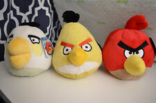 Lot of 3 Angry Birds 8in. Deluxe Plush Matilda, Chuck and Red