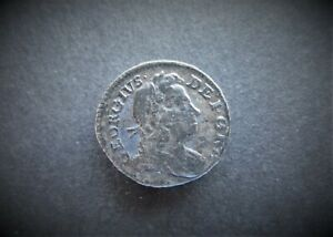GEORGE I   SILVER PENNY 1718  / SNIFF'S  ANCIENT COINS T-7