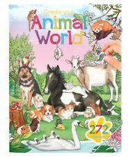 Create your Animal World Mal- und Stickerbuch   Kinder Malbuch mit Stickern