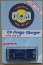 HOT WHEELS CONNECTICUT CVD '69 DODGE CHARGER FIRST CLUB CAR #1 OF ONLY 30 W+