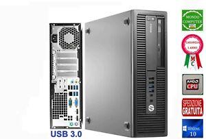 COMPUTER HP PRO DESK 705 G3 SFF CPU AMD QUAD CORE A8 9600 _ 3,10 GHZ  WINDOWS 10