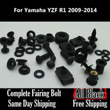 NT Complete Black Fairing Bolt Kit Body Screws for Yamaha 2009- 2014 YZF R1 Ua06