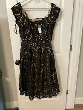 City Chic - Black Lace Dreams Dress - Size M - Black