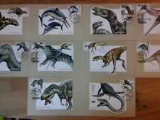 2013 DINOSAURS  PHQ382 STAMP CARDS - FDI FRONT PICTORIAL HANDSTAMPS AS DESCRIBED