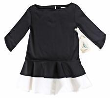 A.Bird Designer Girls Black Off White Ivory Dress Classy Dropwaist 8 (8-10) NWT