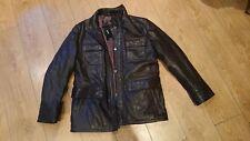 Hugo Boss Gonzano Leather Jacket Lamb Size Large brown  BNWT RRP £650.00