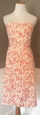 Adorable J.crew Size P6 Coral Abstract Floral Strapless Deco Dress EUC