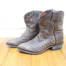 Harley Davidson Motorcycle Women's 7.5 Western Cowboy Boots Distressed Leather