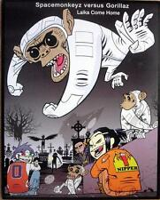 SPACEMONKEYZ GORILLAZ MUTANTLY RARE LAIKA COME HOME DS CD / LP COVER ART POSTER