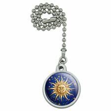 Celestial Suns Moon Shooting Stars Ceiling Fan and Light Pull Chain