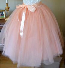 Women Girls Princess Ballet Tulle Tutu Skirt Wedding Prom Rockabilly Mini Dress