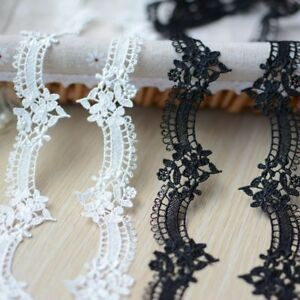 Lovely 2 color flower lace trim = PRICE FOR 1 YARD /select color/