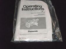 Panasonic AG-DVX100AP Digital Video Camera Recorder User Manual Instruction Book