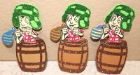 EL CHAVO DEL OCHO 8 PARTY SUPPLY DECORATION FOAM FIGURES 10 PACK GLITTER