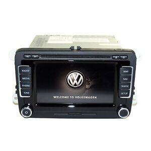 VW Rns 510 DVD Radio GPS Con Codice Touchscreen MP3 SD LED 1T0035680PX HW10